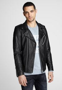 Royal Denim Division by Jack & Jones - Leather jacket - black - 3