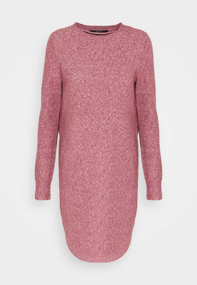 VMDOFFY O NECK DRESS - Stickad klänning - cabernet