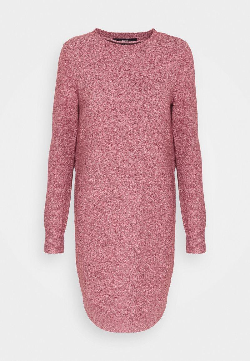 Vero Moda Tall - VMDOFFY O NECK DRESS - Pletené šaty - cabernet