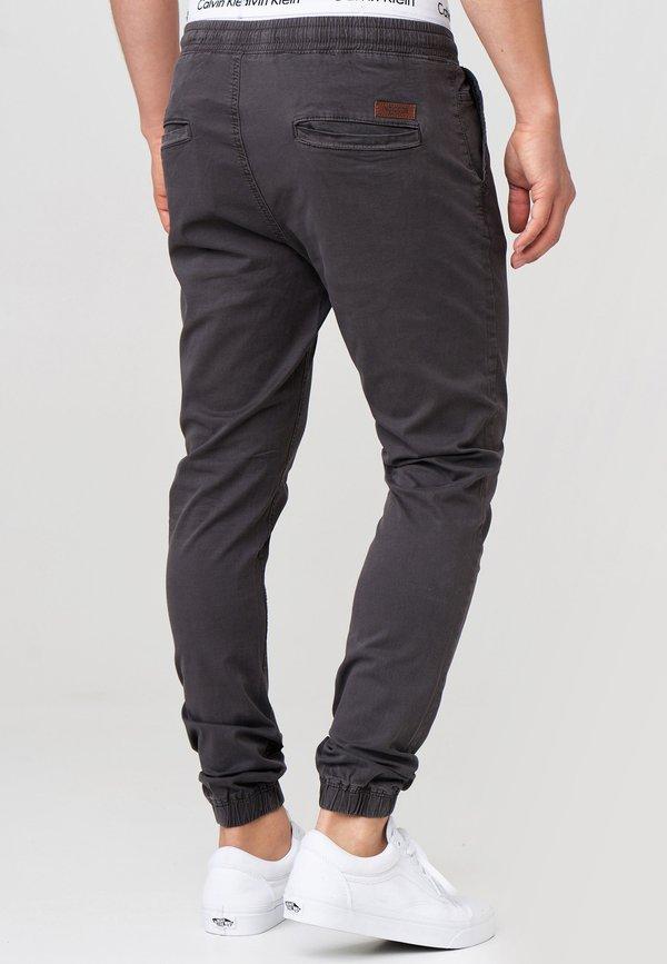 INDICODE JEANS FIELDS - Spodnie materiałowe - raven/antracytowy Odzież Męska ZLYN