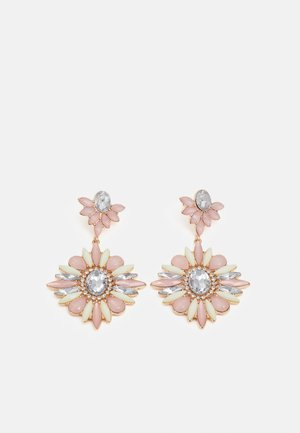 PCPUSSER EARRINGS - Earrings - gold-coloured/rose/clear