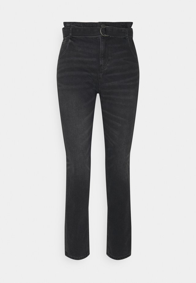 HIGHEST RISE MOM  - Jeans Slim Fit - smoked gray