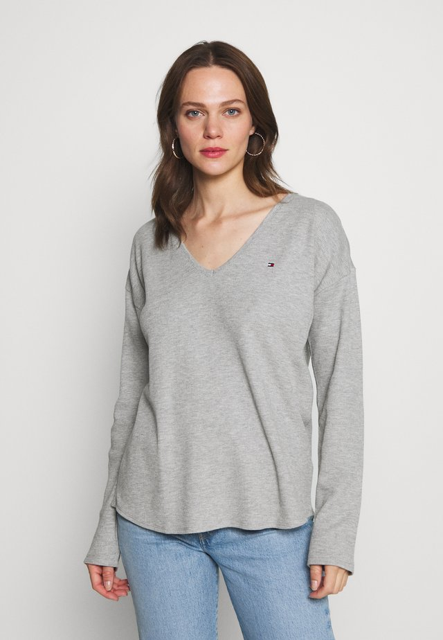 CATHY - Long sleeved top - light grey