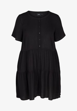 MED A-FORM - Shirt dress - black