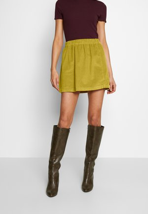 ELASTIC WAIST MINI SKIRT - Spódnica mini - neon green