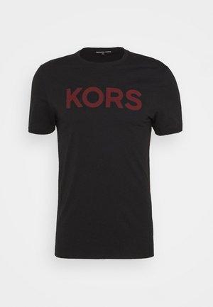 PLAID LOGO - Print T-shirt - black