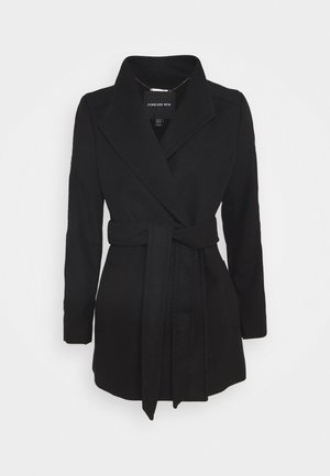 VIVIENNE SHORT WRAP - Krótki płaszcz - black