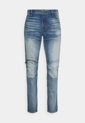 3D ZIP KNEE SKINNY - Jeans Skinny Fit - vintage cool aqua destroyed