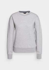 GANT - STRIPES C NECK - Sweatshirt - grey melange - 4