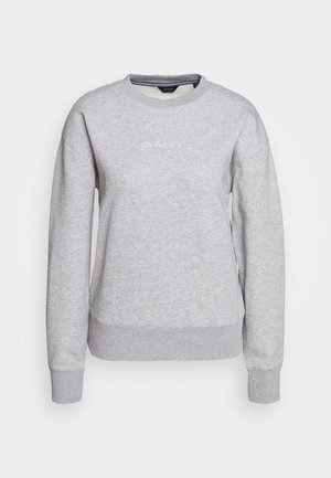 STRIPES C NECK - Sudadera - grey melange