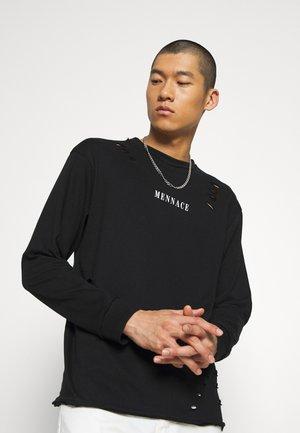 DISTRESSED - Long sleeved top - black