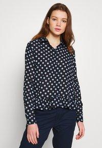 JDY - JDYRANTINI - Button-down blouse - navy blazer - 0