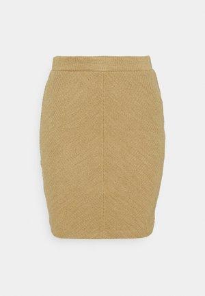 RASSA SKIRT - Pencil skirt - sesam melange