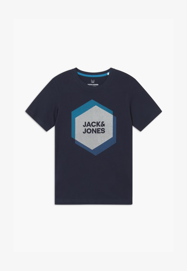JCOCOOL CREW NECK - T-shirt imprimé - navy blazer