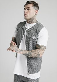 SIKSILK - Chaleco - black  white - 0