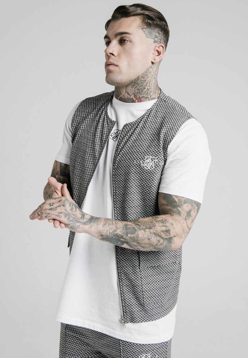 SIKSILK - Chaleco - black  white