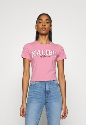 VINTAGE BABY TEE - Print T-shirt - neon pink