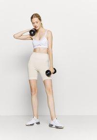 NU-IN - HIGH WAIST CYCLING SHORTS - Leggings - beige - 1