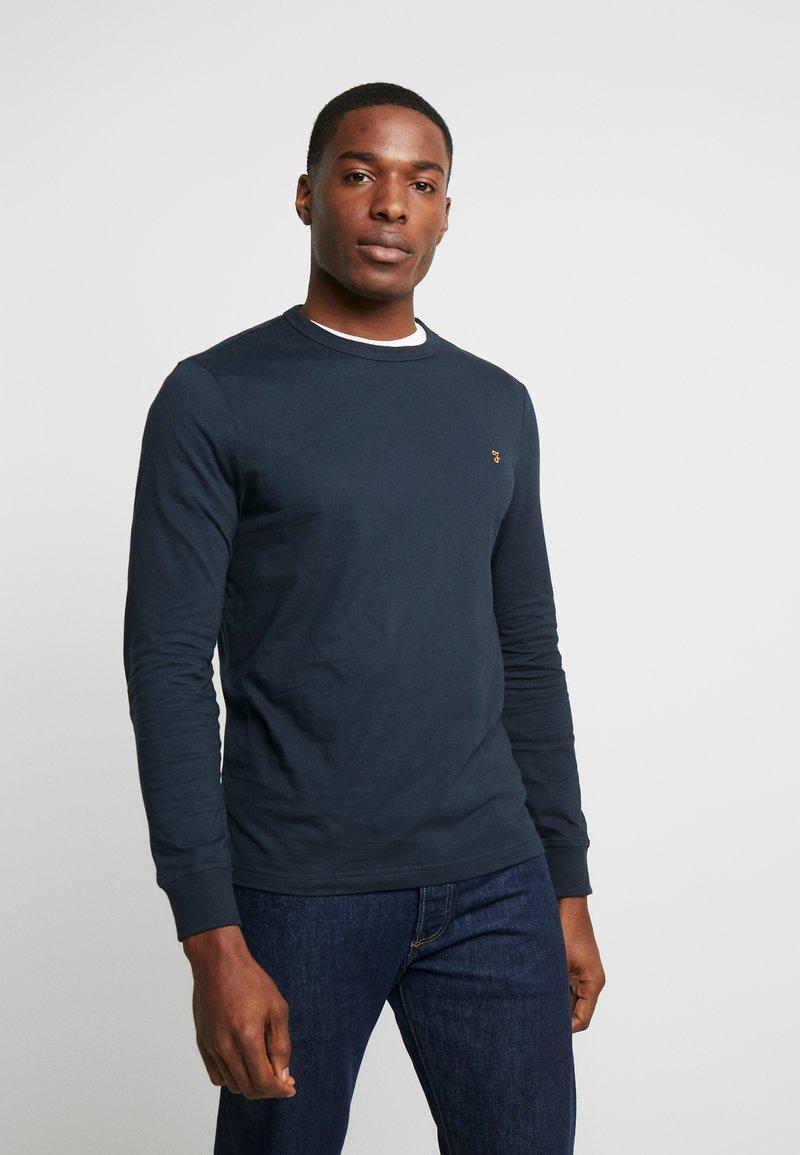 Farah - WORTH TEE - Bluzka z długim rękawem - true navy