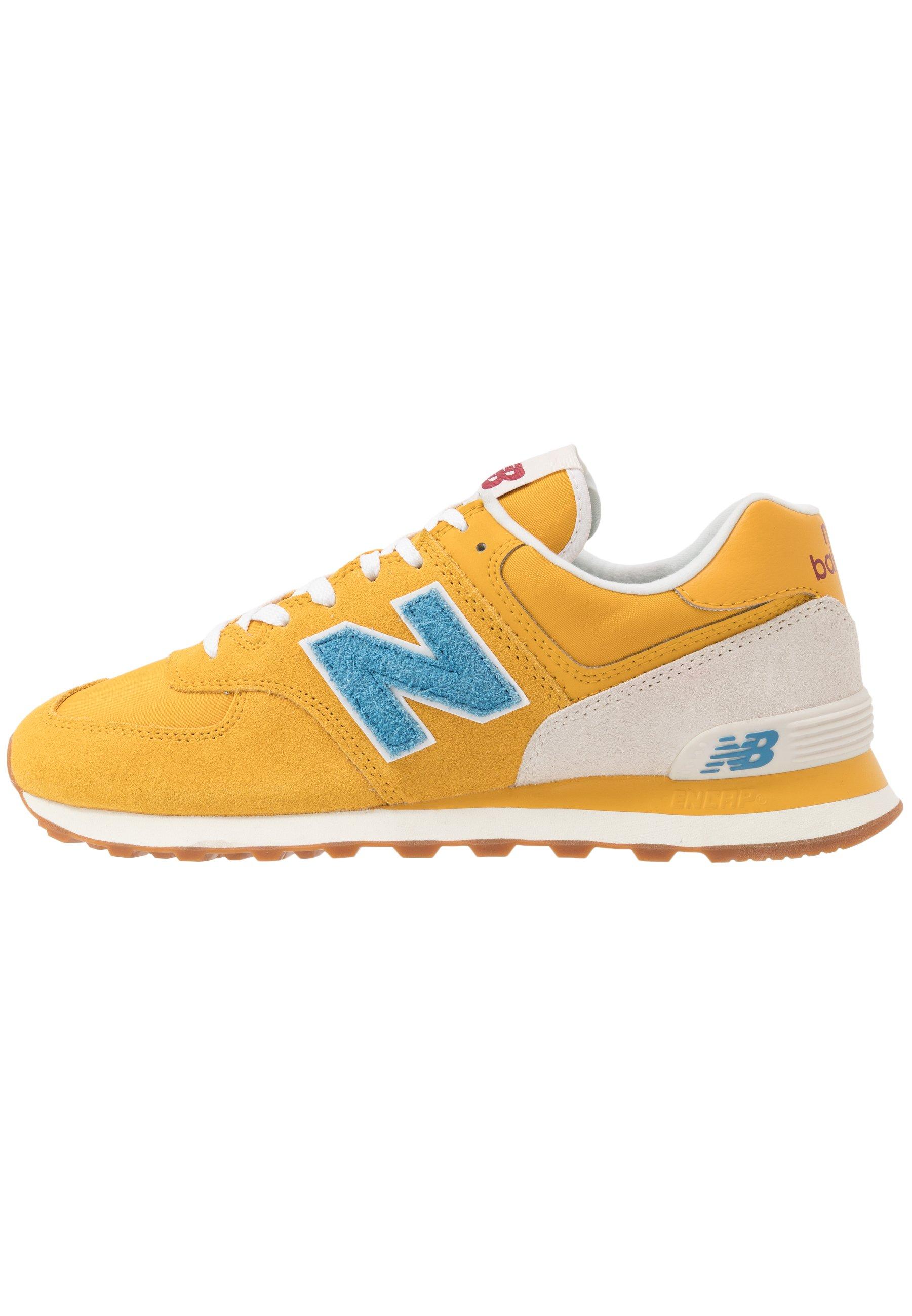New Balance 574 - Sneakers basse - blue/yellow/giallo - Zalando.it