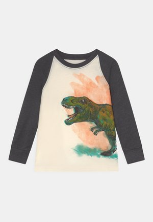 GRAPHIC TEE - Long sleeved top - white