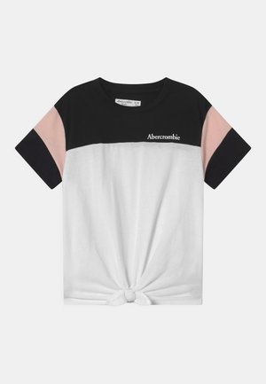 SPORTY TIE FRONT - T-shirt print - black/white