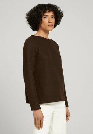 Jumper - java dark brown melange