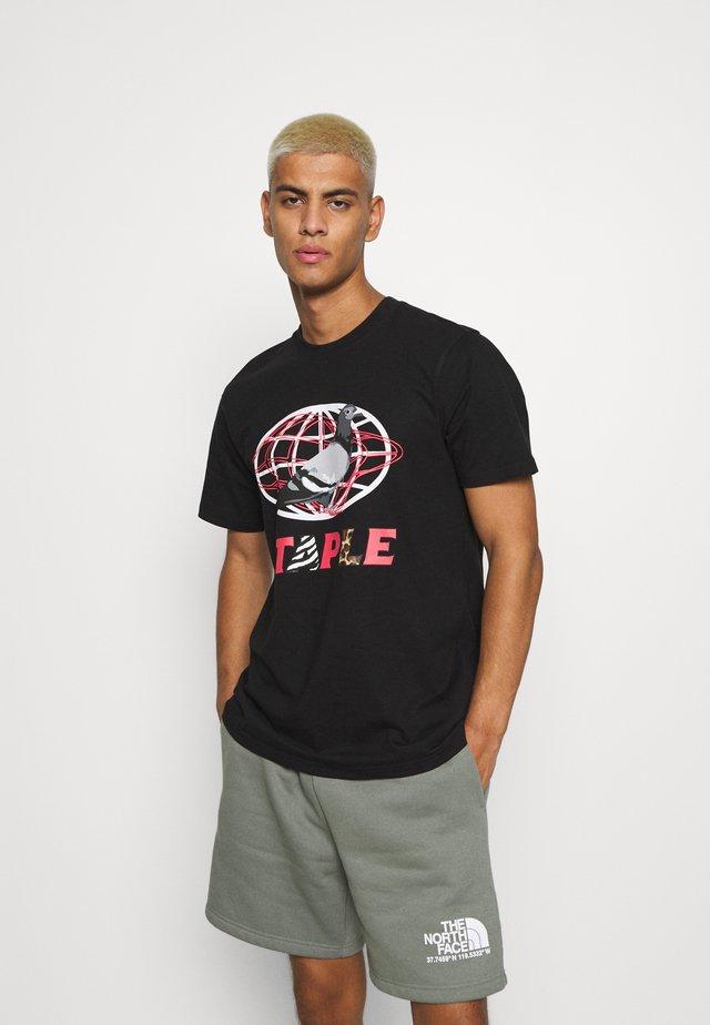 GLOBE LOGO TEE UNISEX - T-shirts med print - black