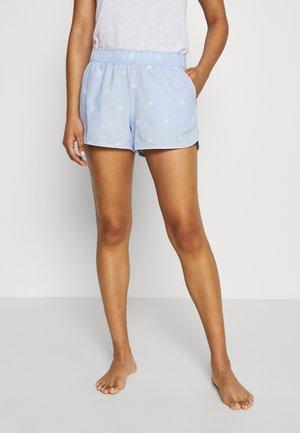 POPLIN SHORT - Pyjamasbukse - light blue