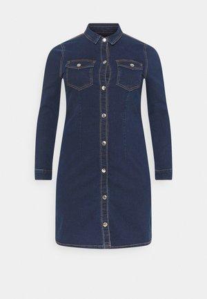 PCSILIA DRESS - Vestito estivo - dark blue denim