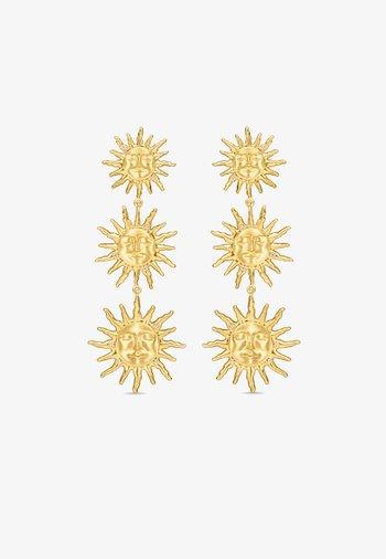 THREE SUNS EARRINGS - Earrings - gold