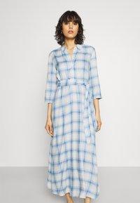 JDY - JDYSTAY MIDCALF DRESS - Košilové šaty - cashmere blue - 0