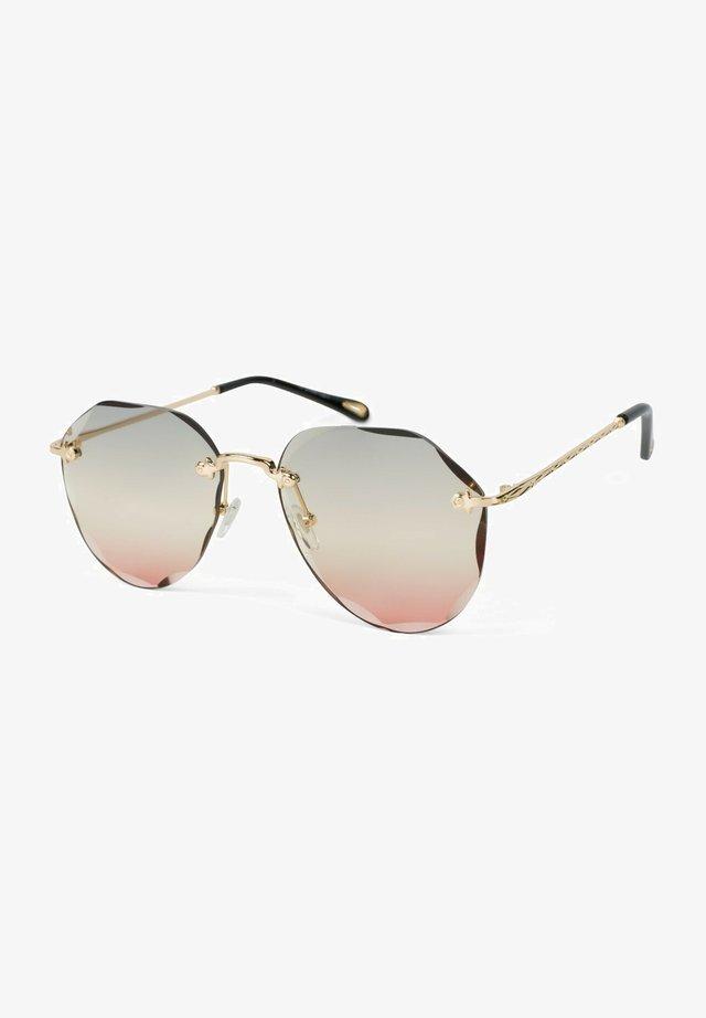 Sunglasses - gestell gold / glas grau-apricot verlauf