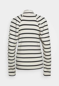 Gestuz - RIFELLA STRIPE TURTLENECK - Sweatshirt - black/white - 1