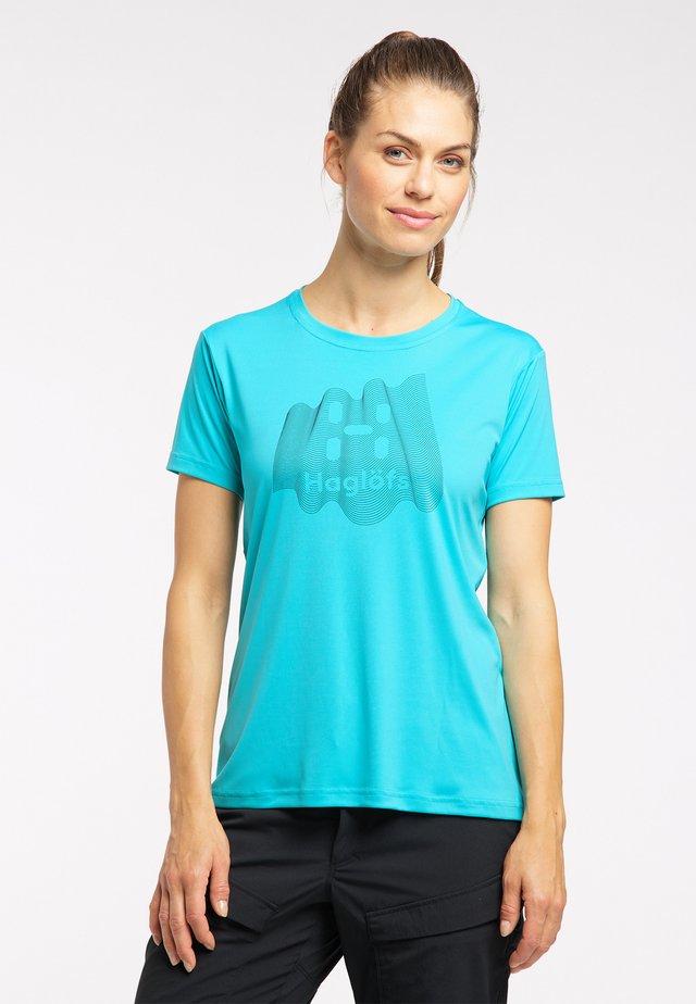 Print T-shirt - maui blue