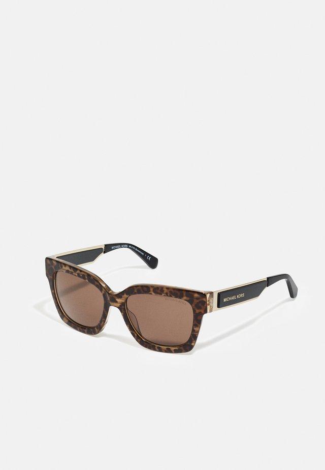 Sonnenbrille - brown leopard