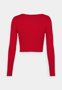Monki - ALIANA CARDIGAN - Cardigan - red - 8