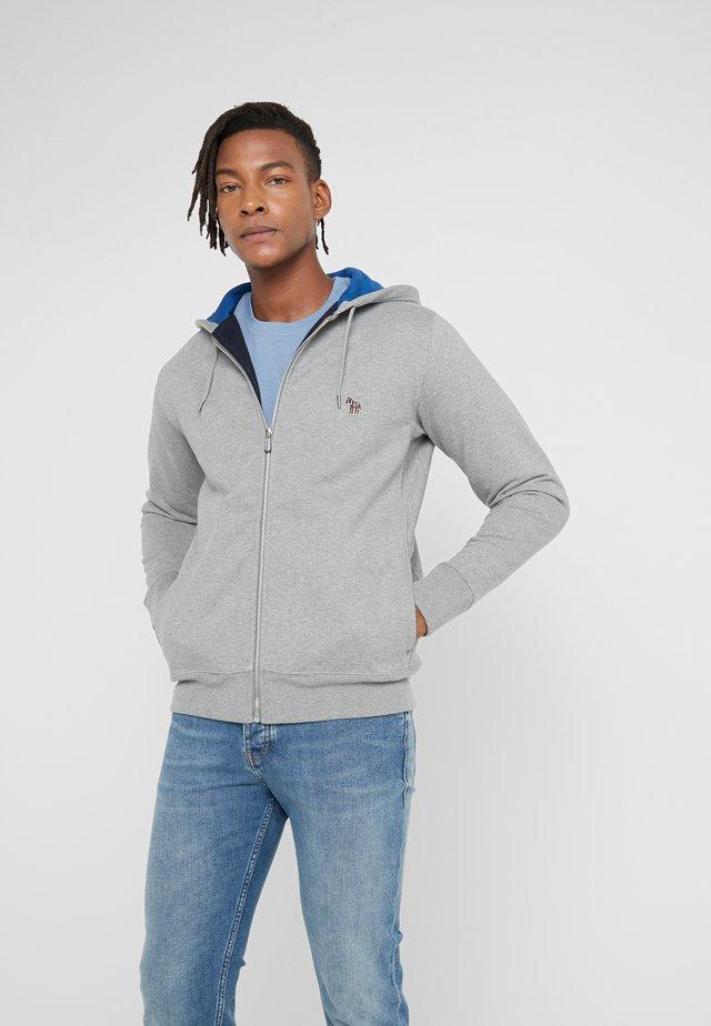 HOODED ZIP - veste en sweat zippée - grey