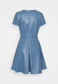 WAL G. - FLARE SKATER DRESS - Denní šaty - steel blue - 1
