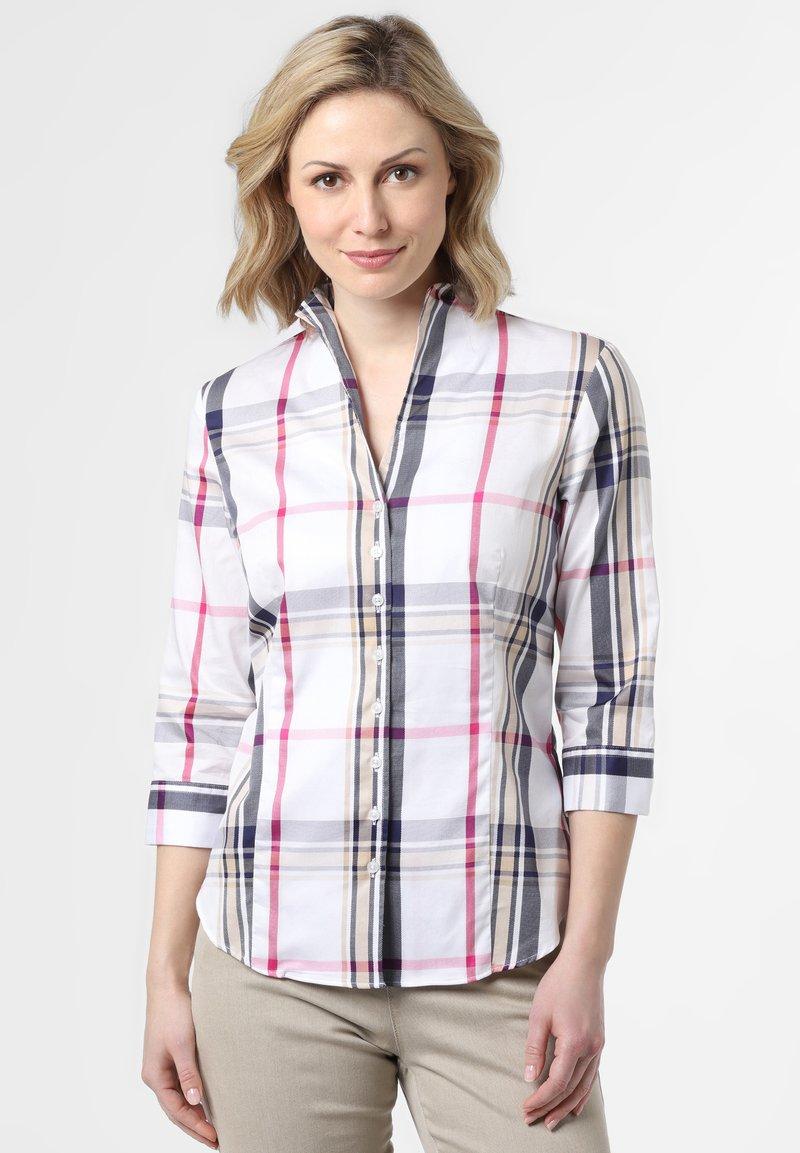 Franco Callegari - Button-down blouse - weiß marine