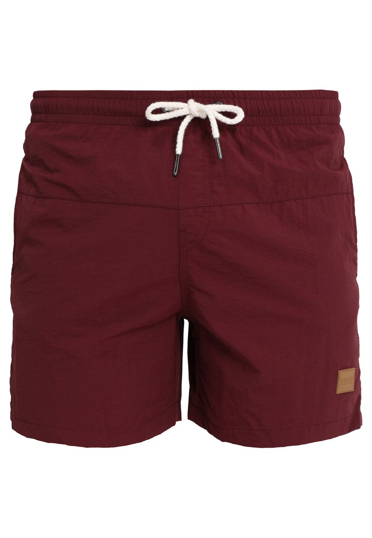 Urban Classics - BLOCK - Swimming shorts - cherry