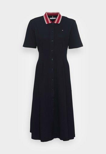 MIDI DRESS - Shirt dress - blue