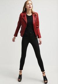 Oakwood - CAMERA - Leather jacket - red - 1
