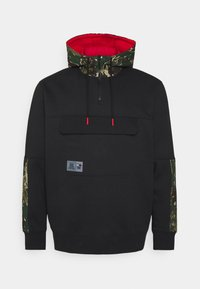 Tommy Jeans Plus - PLUS COLORBLOCK CAMO HOODIE - Sweatshirt - black - 0