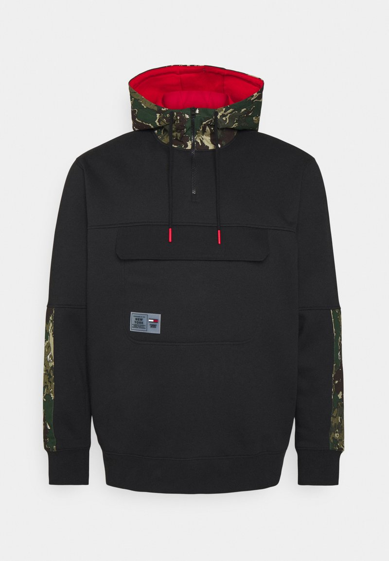 Tommy Jeans Plus - PLUS COLORBLOCK CAMO HOODIE - Sweatshirt - black