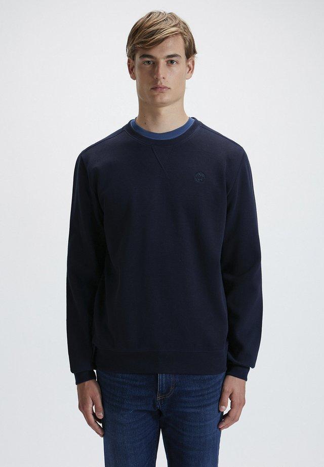 Felpa - navy blue 0802