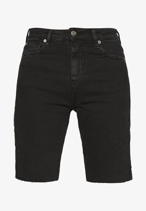 BIRHAK - Denim shorts - used black