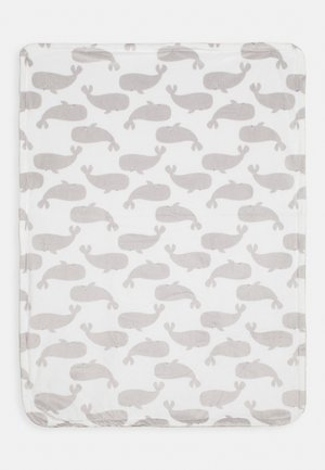 WHALE PLUSH UNISEX - Play mat - grey/white
