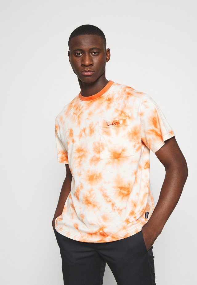 TWO TONE TEE - T-shirt z nadrukiem - orange