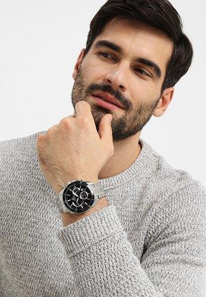 Cronografo - silver-coloured/black